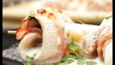Rollitos de merluza con panceta